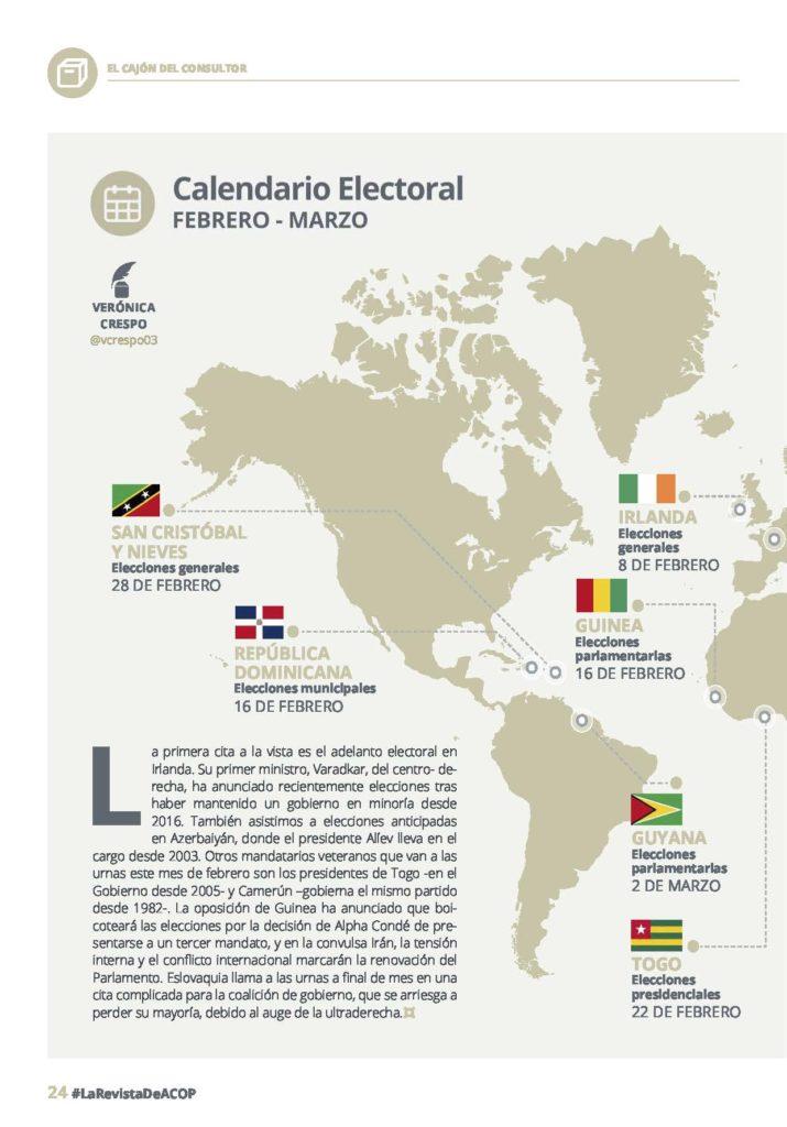 calendario electoral febrero