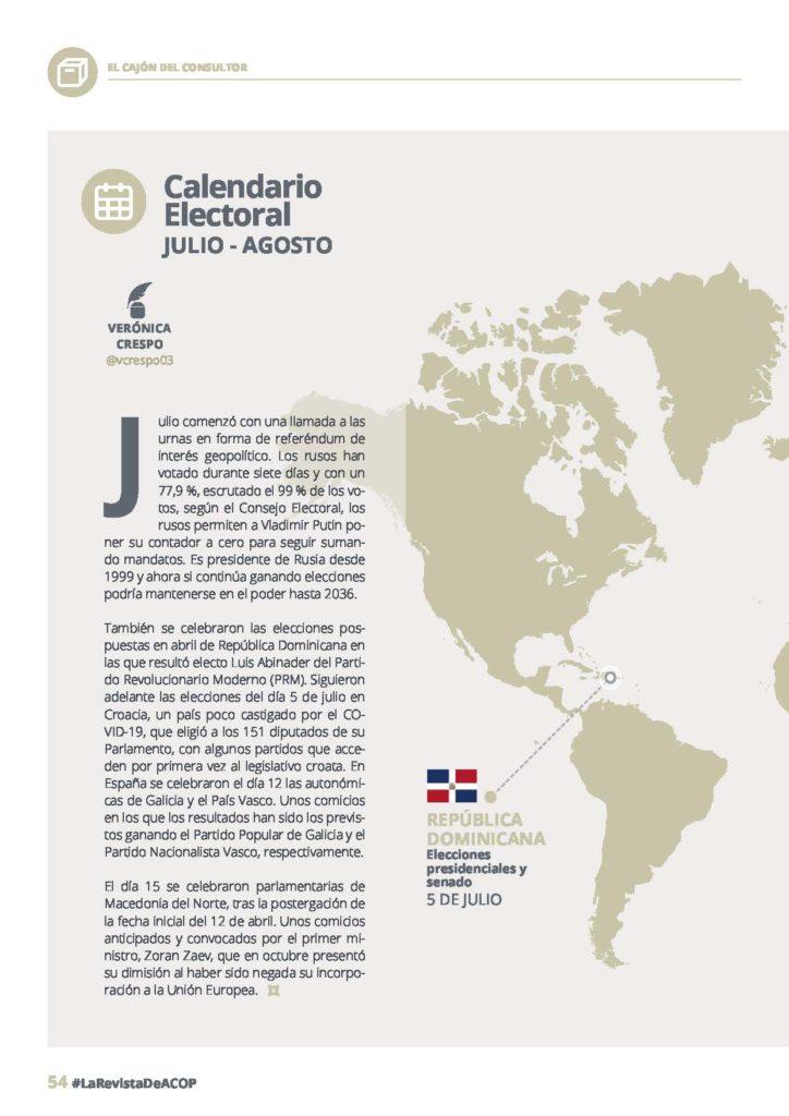 calendario electoral julio