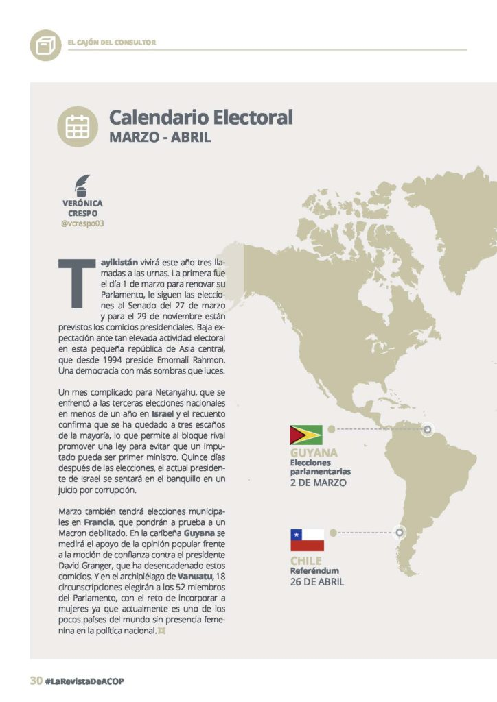 calendario electoral marzo
