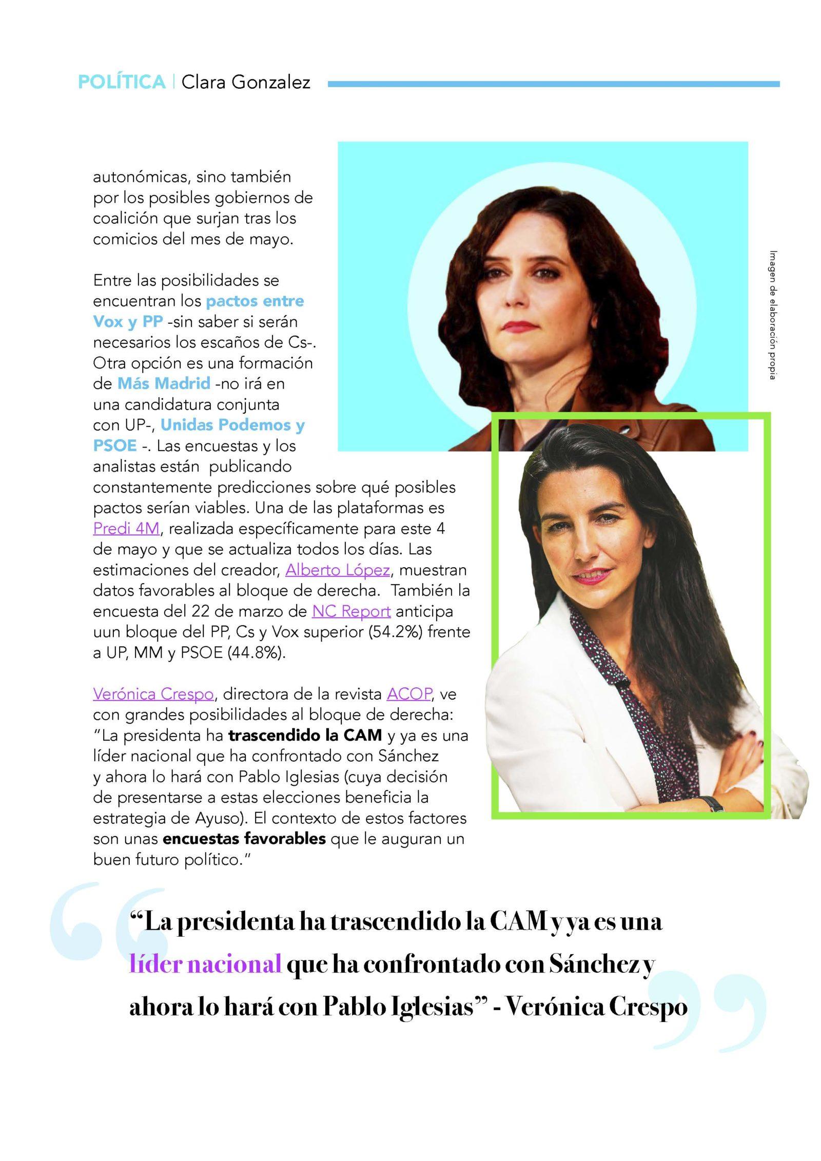 Verónica Crespo en Revista FEMME